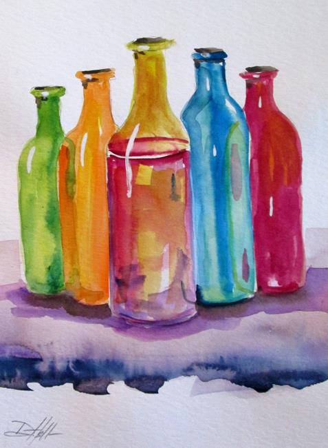 Art: Colorful Bottles by Artist Delilah Smith