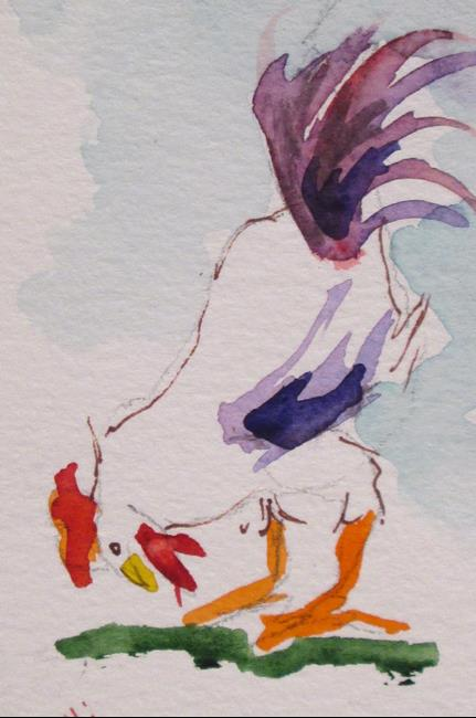 Art: Chicken Aceo No. 37 by Artist Delilah Smith