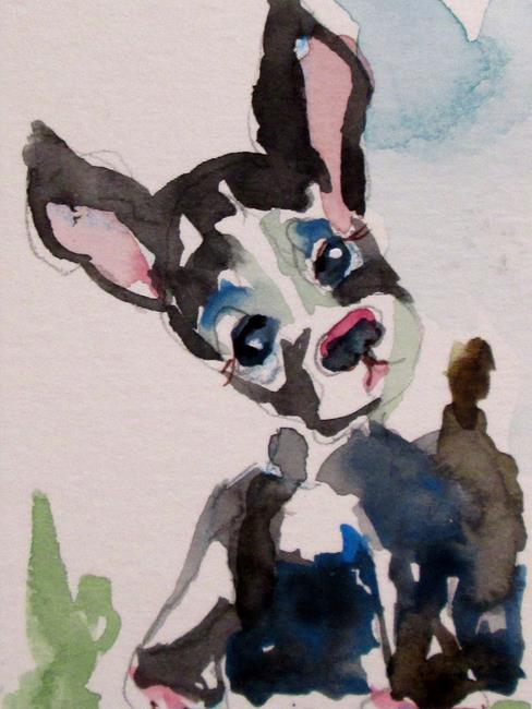 Art: Curious Dog by Artist Delilah Smith