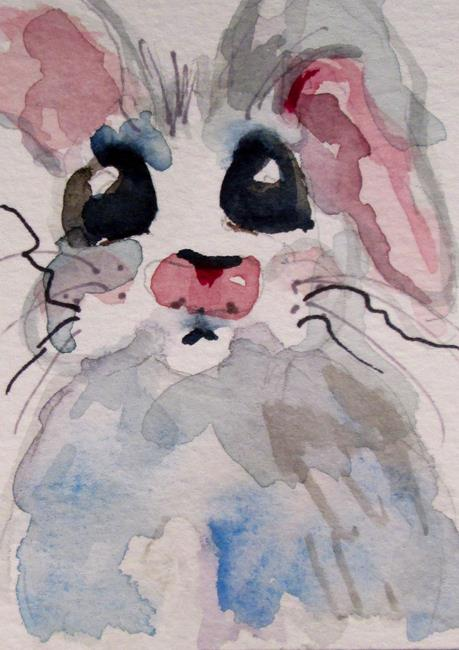 Art: Gray Rabbit by Artist Delilah Smith