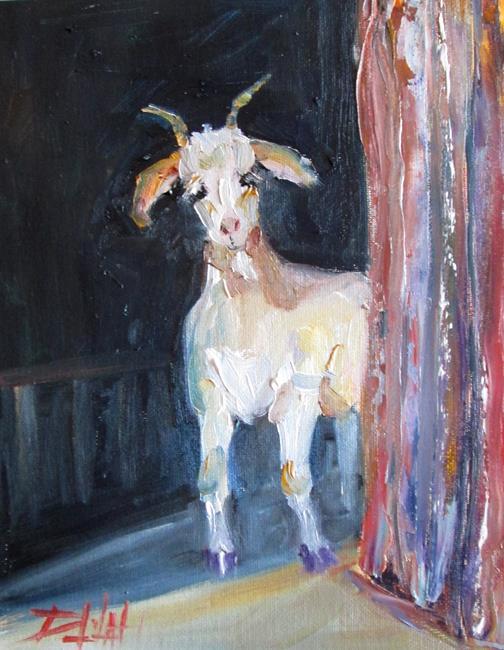 Art: Barn Goat by Artist Delilah Smith