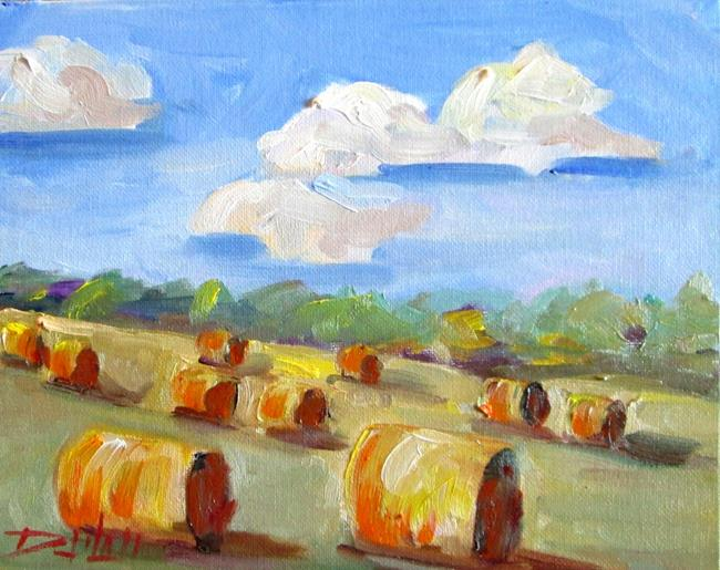 Art: Round Bails by Artist Delilah Smith