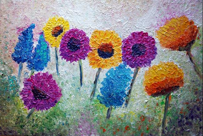 Art: FLOWERS MEADOW by Artist LUIZA VIZOLI