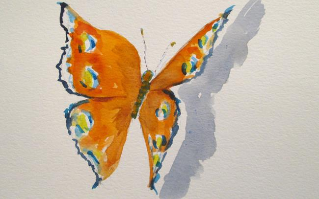 Art: Butterfly No.6 by Artist Delilah Smith