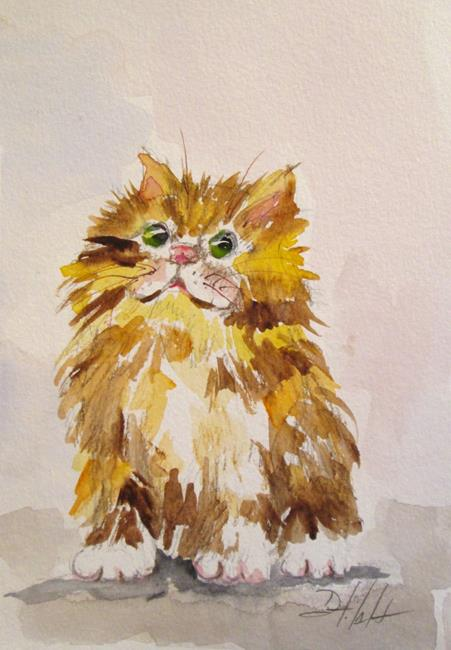 Art: Fluffy Kitten by Artist Delilah Smith