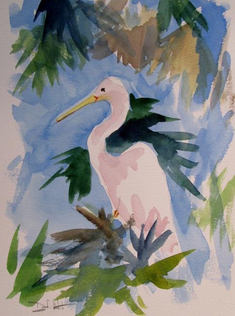 Art: Egret by Artist Delilah Smith