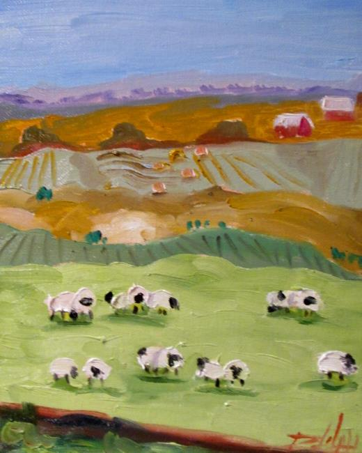Art: Irish Sheep No.6 by Artist Delilah Smith