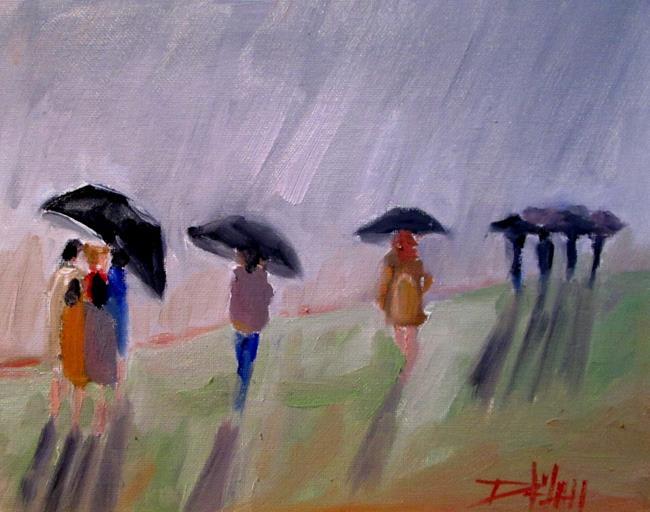 Art: Umbrellas No. 6 by Artist Delilah Smith