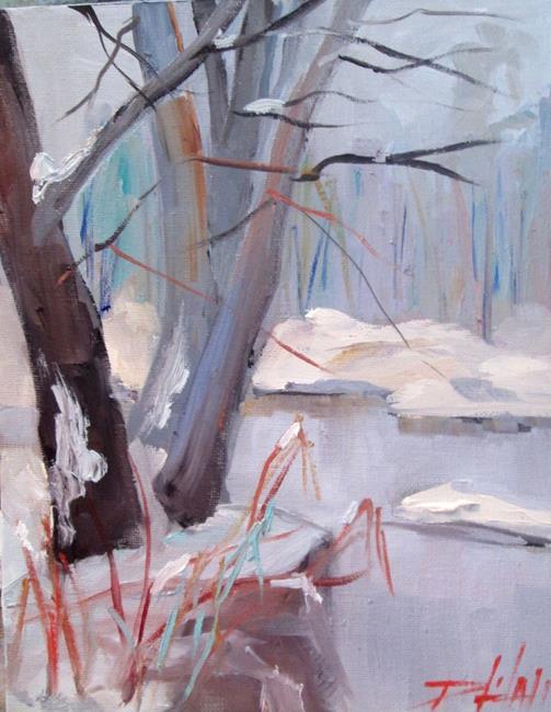 Art: Frozen Stream by Artist Delilah Smith