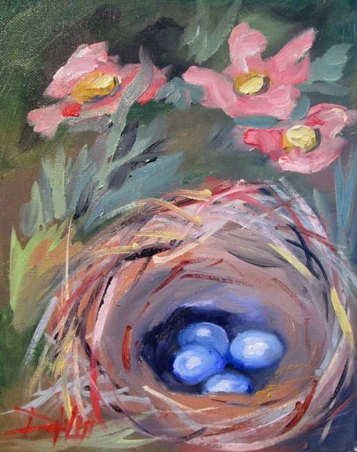 Art: Flower Garden Nest by Artist Delilah Smith