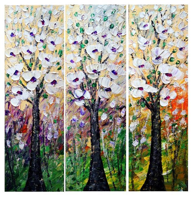 Art: Spring Magnolias by Artist LUIZA VIZOLI