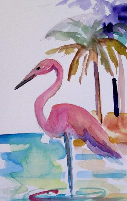 Art: Pink Flamingo No. 18 by Artist Delilah Smith