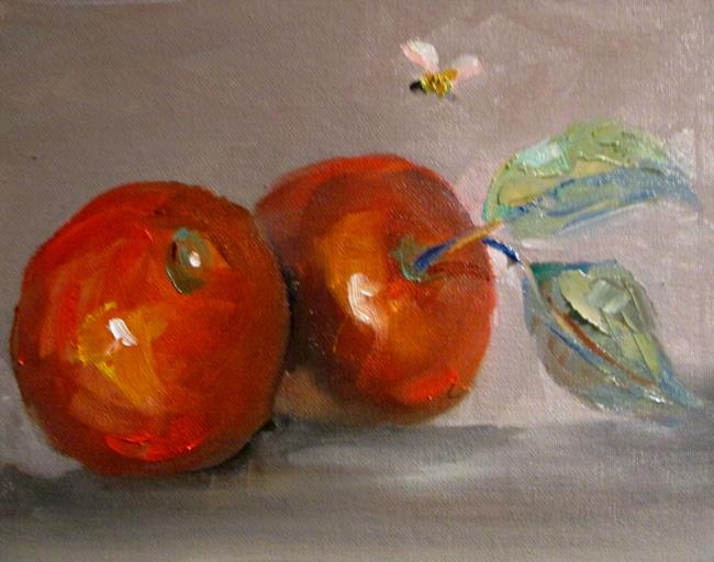Art: Apples and Bee by Artist Delilah Smith