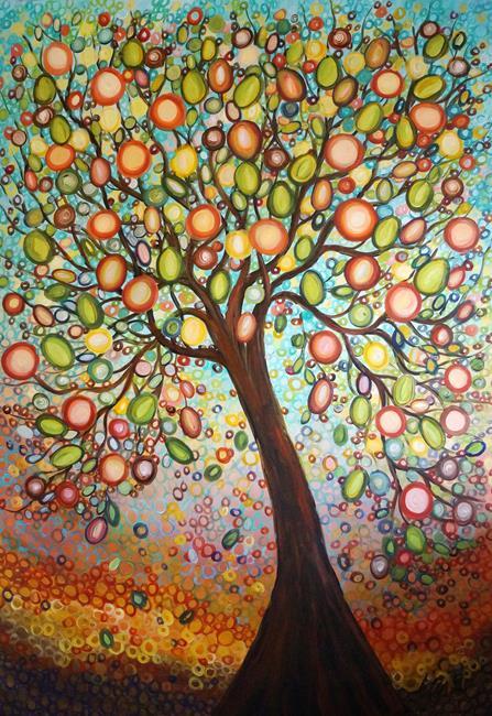 Art: OLIVE HARVEST by Artist LUIZA VIZOLI