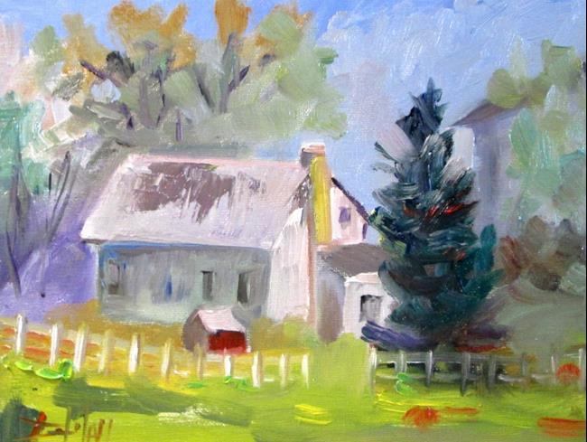 Art: Farm House by Artist Delilah Smith