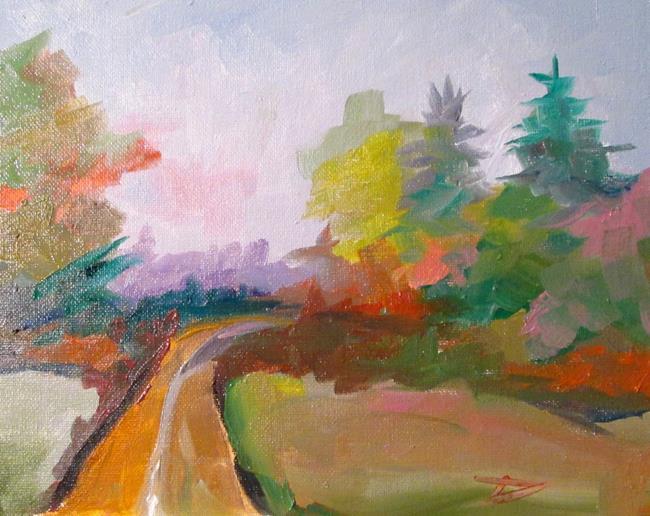 Art: Autumn Lane by Artist Delilah Smith