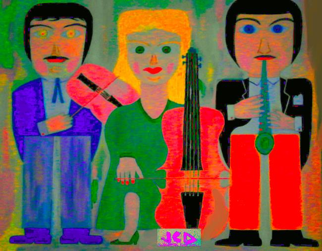 Art: ORCHESTRA by Artist Jean-Claude Delhaise