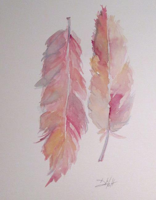 Art: Flamingo Feathers by Artist Delilah Smith