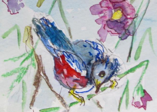 Art: Spring Bird by Artist Delilah Smith