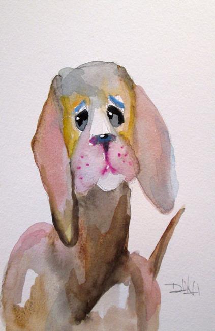 Art: Sad Dog by Artist Delilah Smith