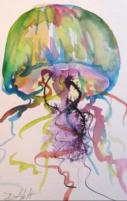 Art: Jelly Fish No. 6 by Artist Delilah Smith