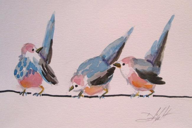 Art: Birds on a Wire by Artist Delilah Smith