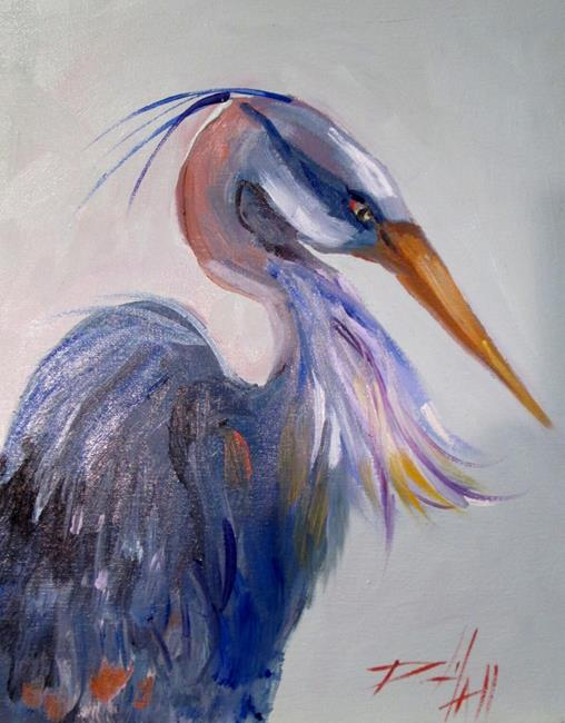 Art: Blue Heron No. 6 by Artist Delilah Smith
