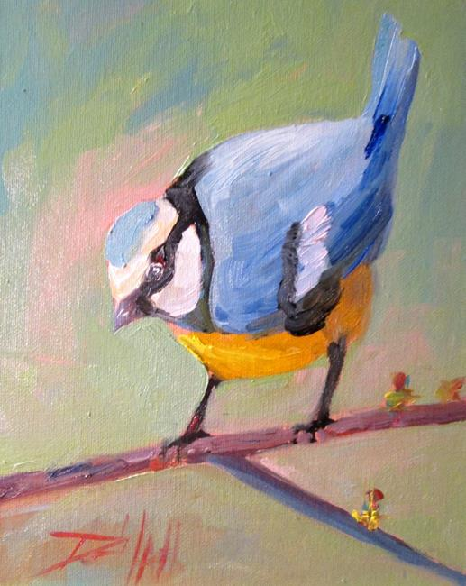 Art: Blue Tit by Artist Delilah Smith