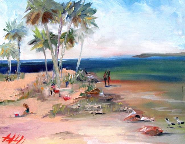 Art: Sunset Beach by Artist Delilah Smith