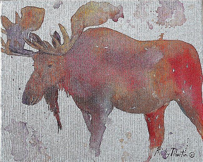 Art: Moose - sold by Artist Ulrike 'Ricky' Martin