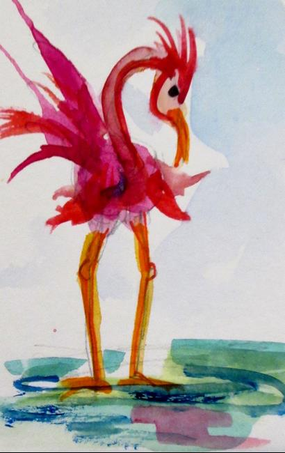 Art: Flamingo No. 19 by Artist Delilah Smith