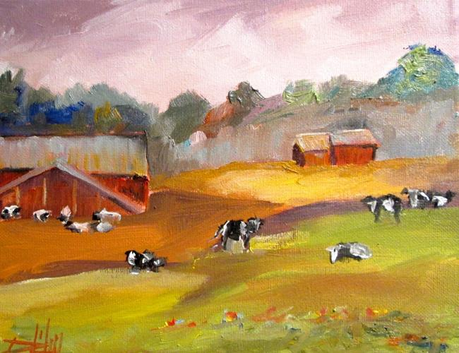 Art: Cattle by Artist Delilah Smith