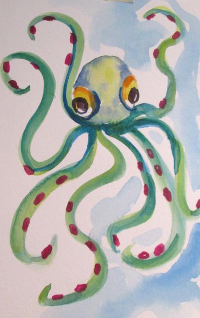 Art: Octopus No. 4 by Artist Delilah Smith