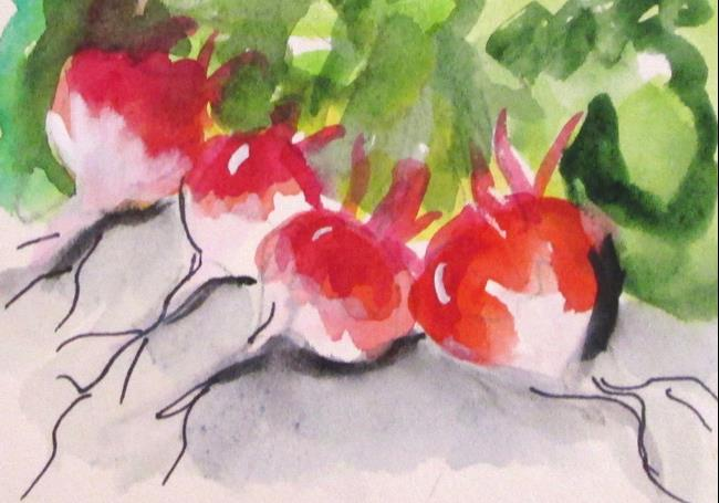 Art: Radishs by Artist Delilah Smith