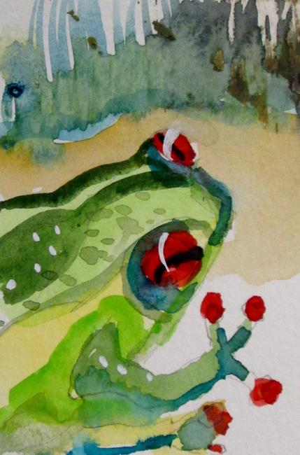 Art: Spring Frog by Artist Delilah Smith