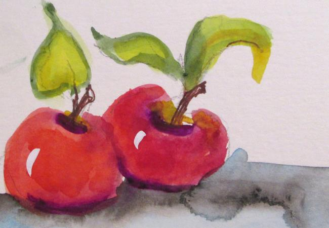 Art: Two Apples by Artist Delilah Smith