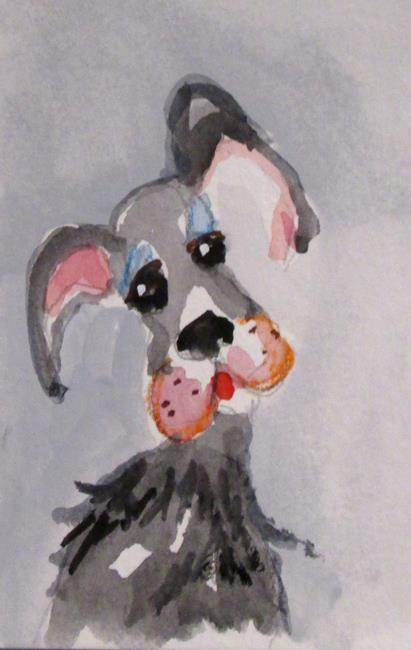 Art: Dog No. 3 by Artist Delilah Smith