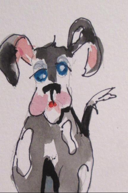 Art: Spotted Dog by Artist Delilah Smith