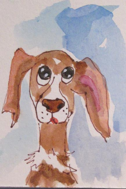 Art: Dog No. 5 by Artist Delilah Smith