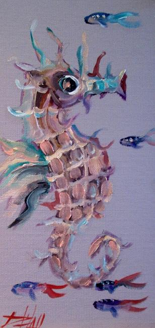 Art: Seahorse and Fish by Artist Delilah Smith