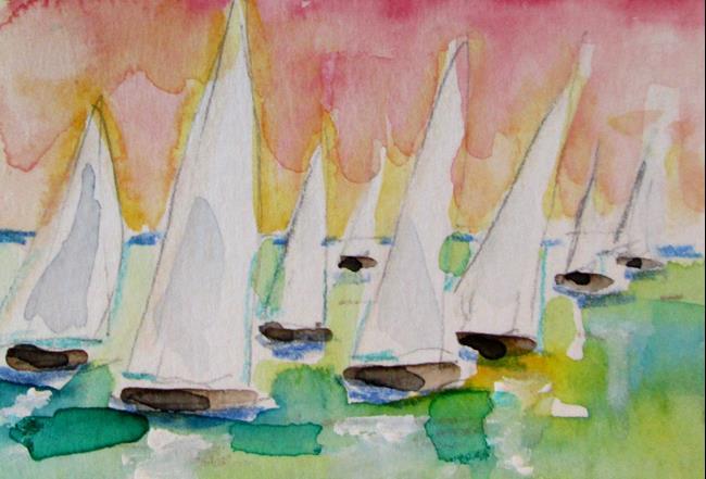 Art: Sailboats by Artist Delilah Smith