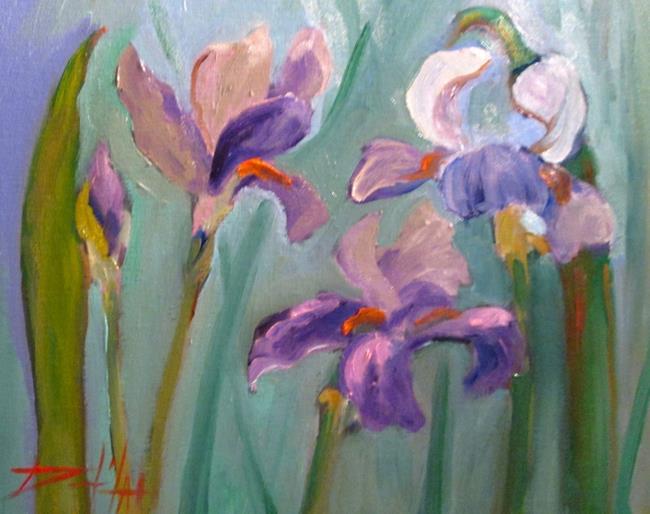 Art: Iris Garden-sold by Artist Delilah Smith