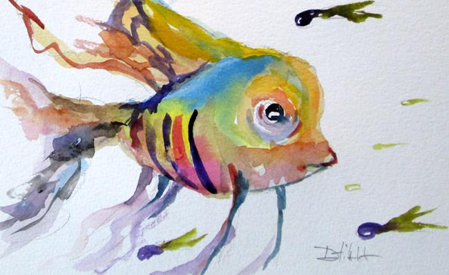 Art: Tropical Fish No. 3 by Artist Delilah Smith
