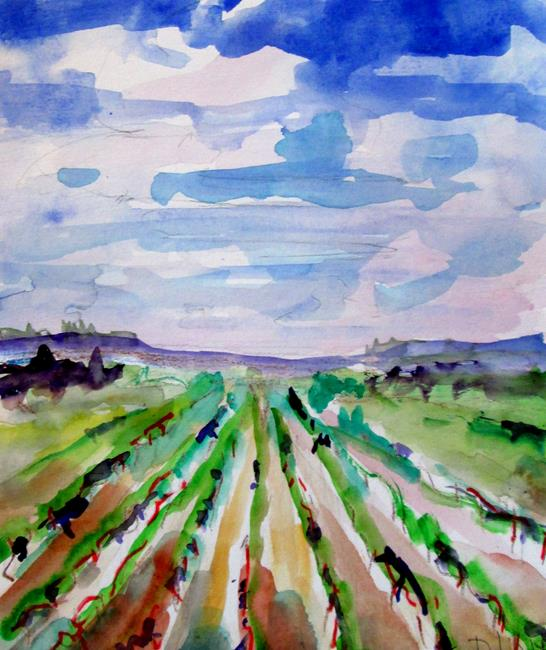 Art: Vineyard by Artist Delilah Smith