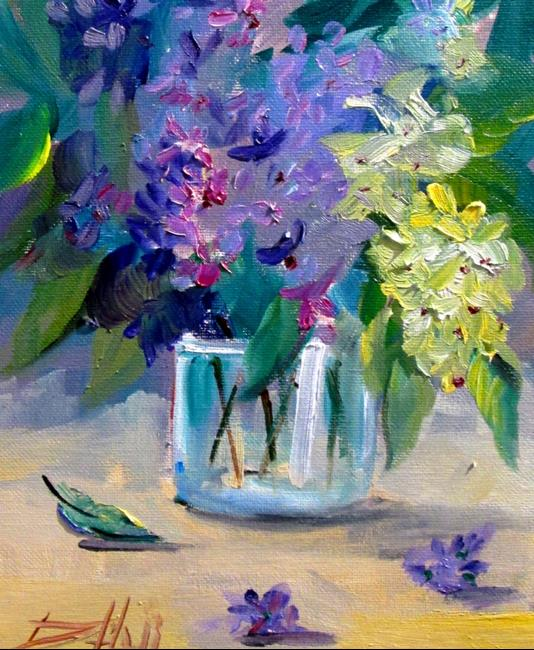 Art: Lilacs in Water by Artist Delilah Smith