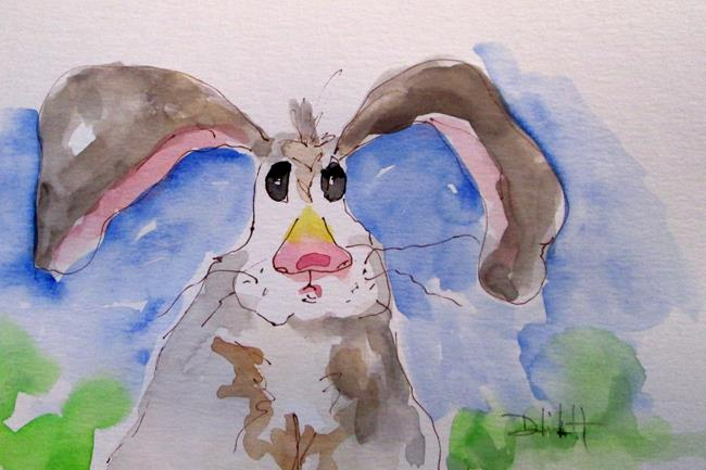 Art: Rabbit No. 7 by Artist Delilah Smith