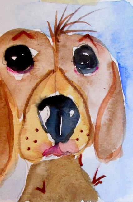 Art: Brown Dog No. 2 by Artist Delilah Smith