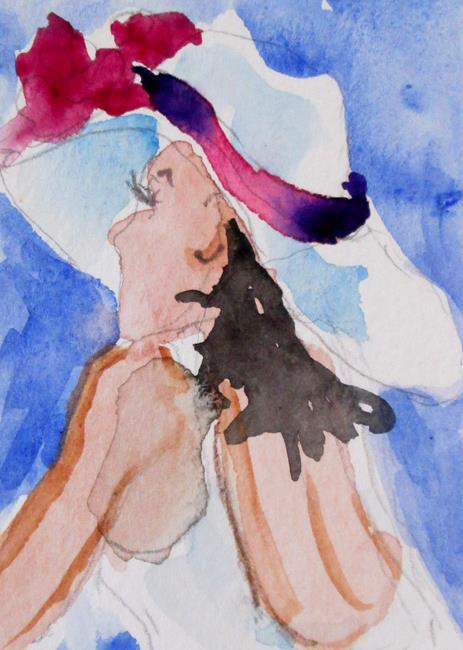 Art: Lady in a Hat No. 7 by Artist Delilah Smith