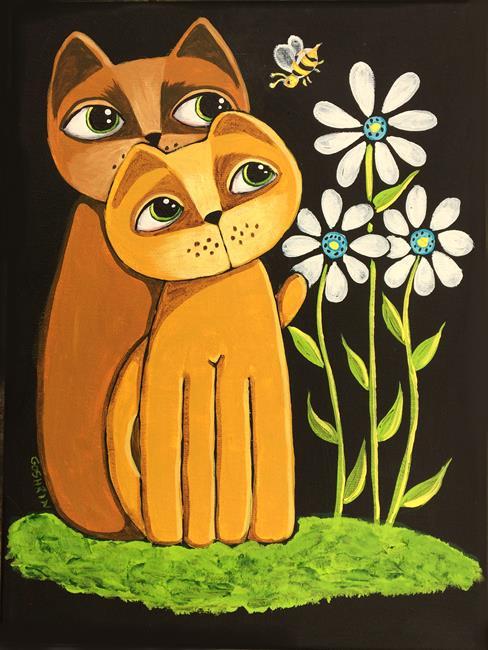 Art: The Bee by Artist Cindy Bontempo (GOSHRIN)