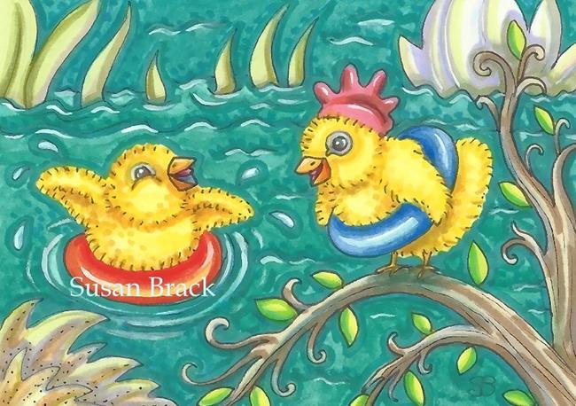 Art: PEEPS FLOAT by Artist Susan Brack